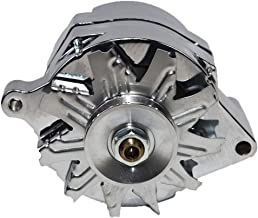 A-Team Performance 1G Style Alternator 1-Wire 110 Amp 10si Conversion 1 Groove V-Belt V6 and V8 Compatible with Ford 1965-89 Chrome