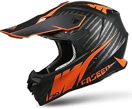 QYWSJ Casco Profesional de Motocross Integral, Visera Doble, Casco de Moto Dirt Bike MX ATV, para Hombres Adultos, Mujeres, Certificado por ECE