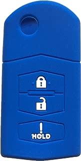 Rpkey Silicone Keyless Entry Remote Control Key Fob Cover Case protector For Mazda 2 3 5 6 CX-5 CX-7 CX-9 RX-8 MX-5 Miata BGBX1T478SKE125-01 662F-SKE12501 SKE12501 G2YA-76-2GXB KPU41788