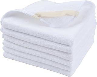 Sinland Microfiber Facial Cloths Fast Drying Washcloth White 30CM X 30CM 6 Pack