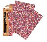 Decopatch–Papel floral brillante (Pack de 3hojas)