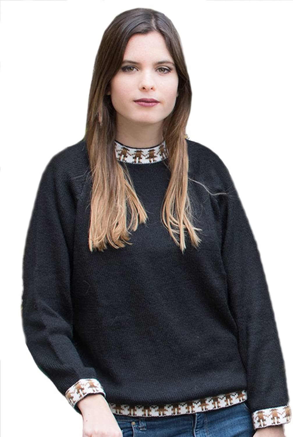 Gamboa  Warm and Soft Alpaca Sweater for Women  Available in Black or Red