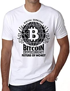 Ultrabasic Men�s Graphic T-Shirt Bitcoin Future of Money T-Shirt HODL BTC Tee Crypto Gift Idea White