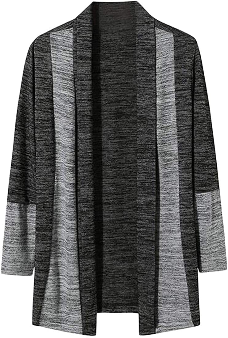 Free shipping on posting reviews TIMOTHY BURCH Men's Shawl Collar 25% OFF Front Two-Tone Basic Knitt Open