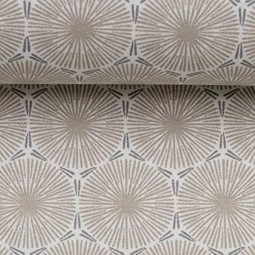 Swafing Beschichtete Baumwolle Leona Pusteblumen Schlamm 50x150 cm Meterware