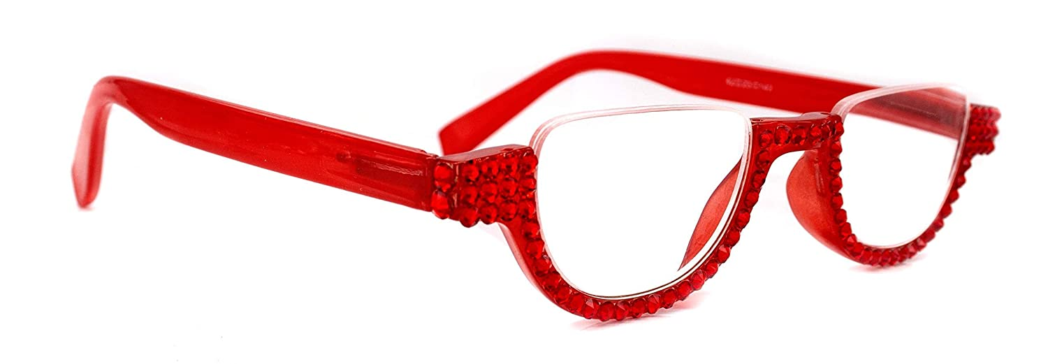 The Half Moon Denver Mall Red Bling Women Courier shipping free Adorned Reading Glasses Siam with
