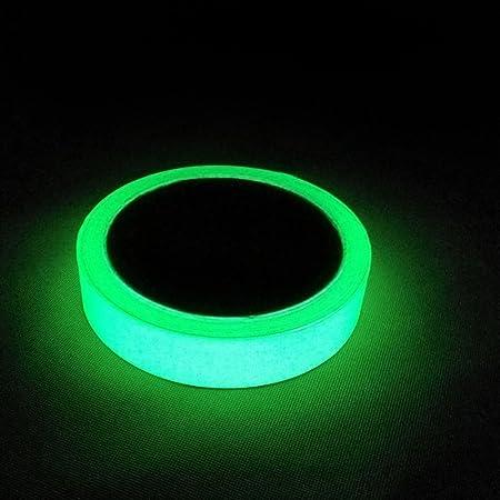 nastro fluorescente da 10 m /× 15 mm adesivo UV che si illumina al buio impermeabile e luminoso nastro adesivo decorativo da parete Girlslove