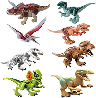 MUMBABYTOYS Dinosaur Building Blocks Figures , Action Figures ,Dinos Toy with Movable Jaws