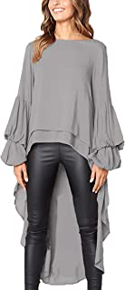 gray dress blouses