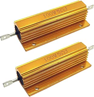 1 Kilo Ohm Resistance 1000V Inc. 5/% Tolerance Ceramic Core with Welded Terminals NTE Electronics 100WF210 Resistor Vitreous Enamel Fixed Wire Wound 100W