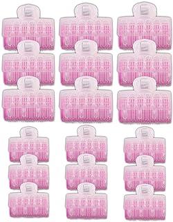 18 rulos de cabello de auto agarre rodillos autoportantes rizadores de peluquería de salón 25 mm, 30 mm con 18 unidades grandes y antideslizantes horquillas de pelo para peinado de mujeres hombres