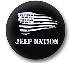 Jeep Spare Wheel Tire Cover [Wrangler Accessories] UV Resistant, USA Flag – fits Grand Cherokee, Liberty (28/29