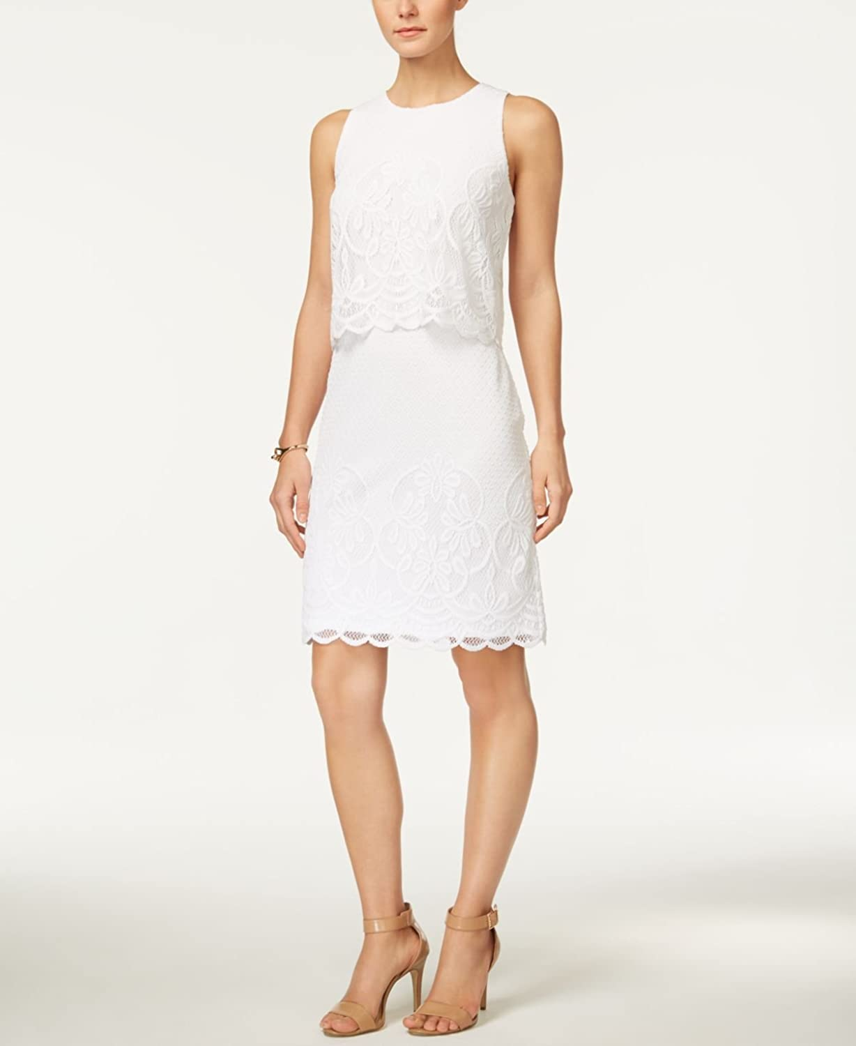 Charter Club Lace Tiered Dress