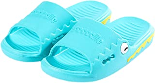 Elonglin Boys Girls Bathroom Slippers Sandals Children Anti-Slip Beach Summer Slipper Shower Pool Shoes Non Slip Beach Indoor House Shoes (Light Blue 170/16cm)