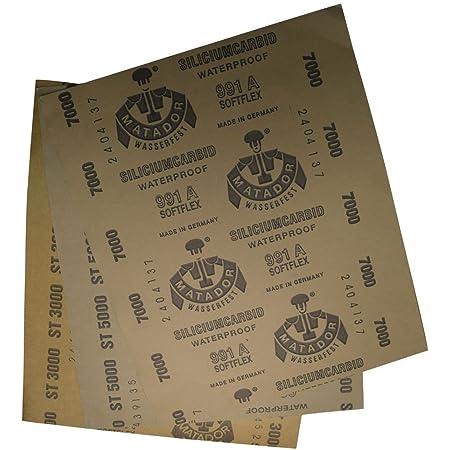 Matador 6 Sheet Assortment Wet Dry Sandpaper Abrasive Sanding Paper 1500-7000 Gr