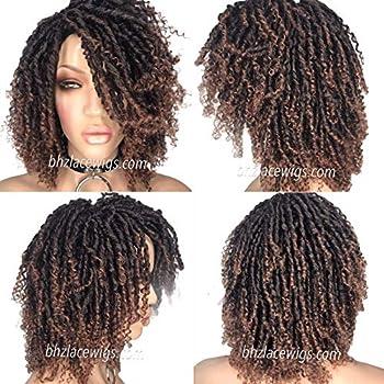 Kenyatta brown Full cap TWIST OUT wig faux locs dreadlocks wig natural hair full cap wig