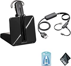 Plantronics CS540 Wireless Office Headset System - Bundle with Plantronics APC-43 Electronic Hook Switch Cable (Cisco) + Universal Screen Cleaner + Microfiber Cleaning Cloth