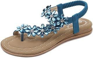 Women Flat Sandals T-Strap Open Toe Flip-Flops Summer Slip On Gladiator Shoes