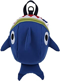 GMKJ Children's Cartoon Backpack Cartoon Shark Shape Kindergarten Children Backpack Anti-Lost Travel Shoulder Bag (Color : Royal Blue)
