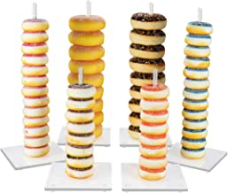 NIUBEE Acrylic Donut Stands 6 Pieces,Clear Bagels Holder for Wedding Birthday Party Treat Display Corner Decor