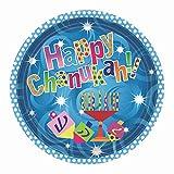 Hanukkah Party Paper Plates Menorah Design on Chanukah Party Paper Plates 10.25