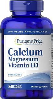Puritan's Pride Calcium Magnesium with Vitamin D Helps Maintain Bone Strength, 240 Caplets