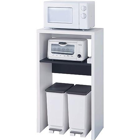 白井産業 レンジ台 ゴミ箱 収納 ラック 約 幅60cm 奥行40cm 高さ105cm キッチン収納 ホワイト (VRD-1060WH ヴォルデバ)