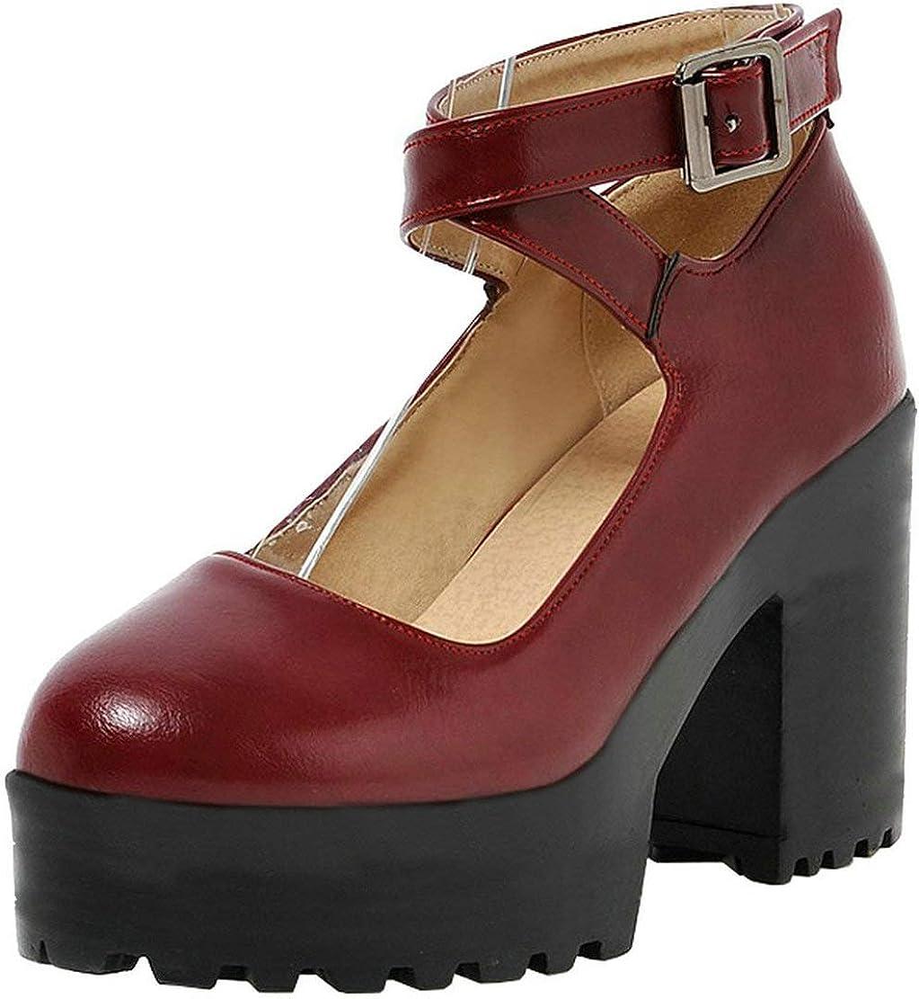 OFFicial mail order Agodor Women's Platform Strappy Mary Goth Janes High Genuine Heel Dress