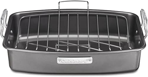 new arrival Cuisinart ASR-1713V Ovenware Classic Collection 17-by-13-Inch new arrival Roaster with sale Removable Rack outlet sale