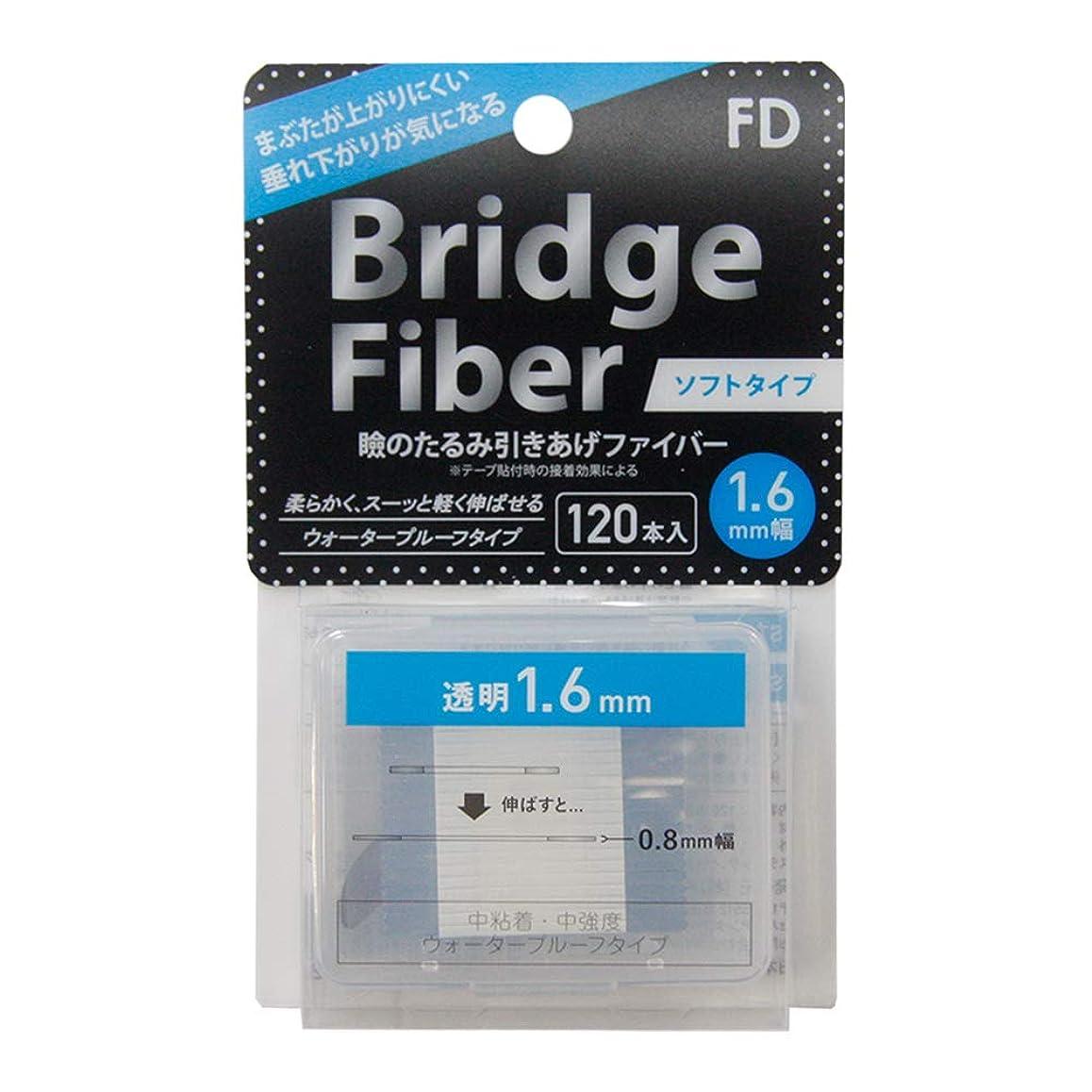 ひいきにする博物館夢中FD ブリッジソフトファイバー 眼瞼下垂防止テープ ソフトタイプ 透明1.6mm幅 120本入り