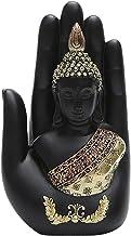 F Fityle Black Buddha Sitting Statue Tibet Buddhist Sculpture Figurine Shelf Decor