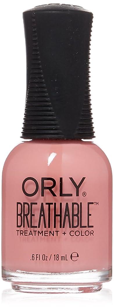 宇宙の部分自分の力ですべてをするOrly Breathable Treatment + Color Nail Lacquer - Happy & Healthy - 0.6oz/18ml