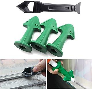 Kit de herramientas de calafateo de silicona, juego de removedor de sellador de 4 piezas con raspador/boquilla, herramienta de alisado de acabado de sellador de silicona para cocina de baño