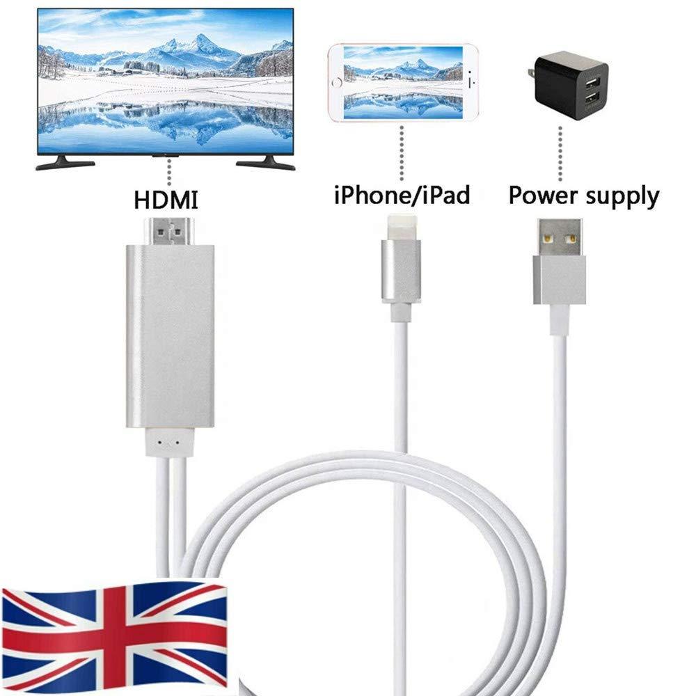 Cable adaptador de electricidad a AV HDMI/HDTV TV para Apple ...