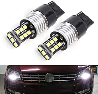 iJDMTOY (2) CANbus Error Free HID White 7440 CREE LED Bulbs for 2012-2015 Volkswagen Passat Daytime Running Lights