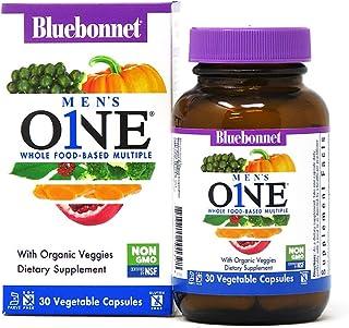 Bluebonnet Nutrition Men's One Vegetable Capsule, Whole Food Multiple, K2, Organic Vegetable,...