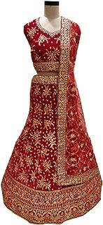SHRI BALAJI 8971 Red Indian Hit Latest Velvet Lehenga Choli Heavy Embroidery Work Bridal wedding cocktail wear Ethnic Women Girls Semi Stitched