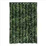 DOUBEE Personalisiert Gras Grass Wasserdichtes Duschvorhang Polyester Shower Curtain 120cm x 183cm