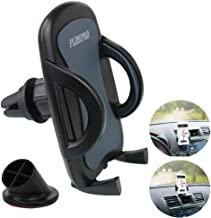 Car Phone Holder, PLDHPRO 2-in-1 Universal Car Air Vent Stick On Dashboard Mount Cradle 360° Rotation Adjustable for iPhone Samsung Sony Google All 4