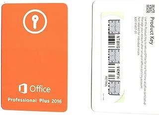 Microsoft Corporation Microsoft Office 2016 Professional - License - 1 Pc - Pc - Download