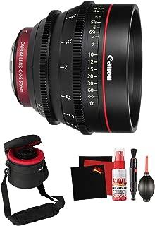 Canon CN-E 50mm T1.3 L F Cine Lens Professional Filmmaker Bundle