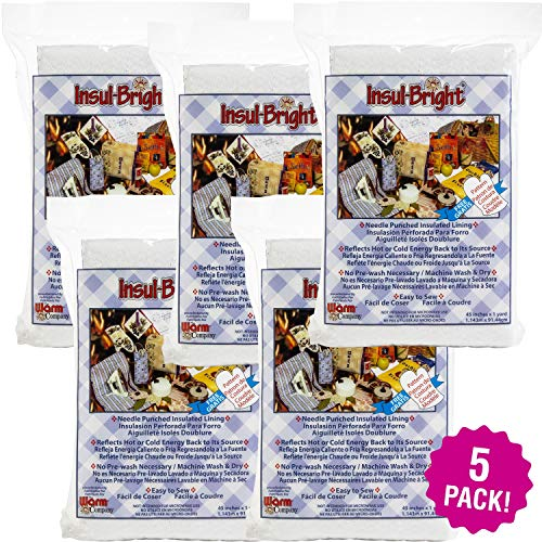 Warm and Natural 99987 Warm Bright Insulated Lining 5/Pk-36'X45' FOB: MI, 5 Pack