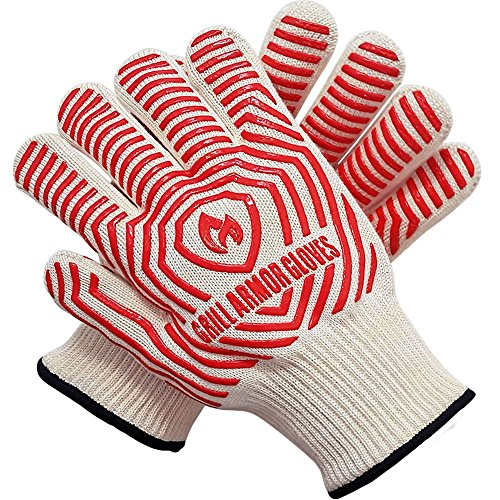 Grill Armor Extreme Heat Resistant Oven Gloves - EN407 Certified 932F - Cooking Gloves for...
