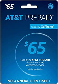 AT&T Prepaid Card $65 - AT&T Prepaid Refill Top-Up Card $65