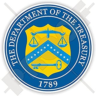 US DEPARTMENT of the TREASURY Seal DoT United States USA America, American 90mm (3.5