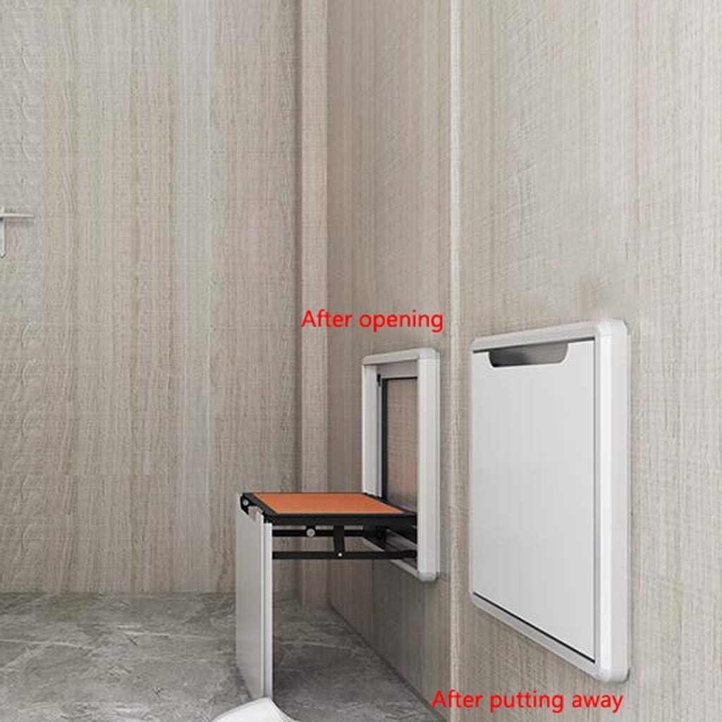 Chaussure de pliage Modification Tabouret Entrée métal mur Tabouret Chaise pliante mural entrée ménage mural Chaussure Tabouret (Color : A) A
