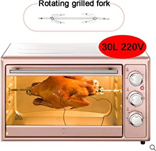 L.TSA Cocina 30L 1600W Horno doméstico pequeño de Gran Capacidad, sincronización precisa y Control preciso de la Temperatura, Puede ayudarlo a Preparar deliciosos Alimentos y Ahorrar Tiempo, Rosa