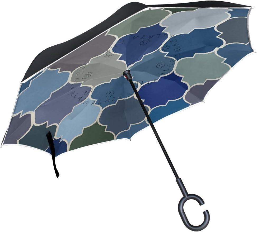 senya Now on sale Windproof Double Layer Moroccan Umbrella Folding 5 popular Inverted