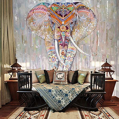 Riligion Elefant Tier verschönern Wandbild 3d Wandbild für Tapeten Wandbild 3D Fototapete für Wohnzimmer Hintergrund 3d Wandbild-200X140CM