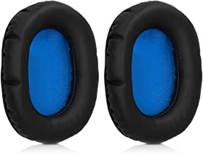 kwmobile 2X Earpads for Turtle Beach Force Recon 50 - PU Leather Ear Pads for Over-Ear Headphones - Black